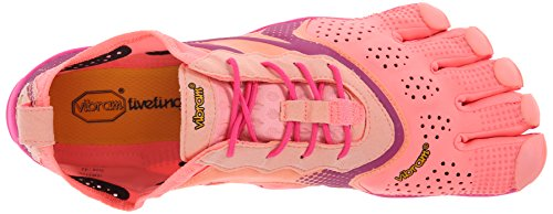 Vibram Five Fingers V-Run, Chaussures Multisport Outdoor Femme Multicolore (Pink/red)