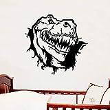 qweasdzx StickersPersonnalité Dinosaure Autocollant Chambre Salon Fond Décoration Autocollant 57 * 54 Cm