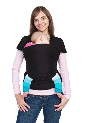 Baby Wrap Carrier Sling per neonato, neonati e bambini | morbido mani libere o seggiolino per allattamento con cotone/Spandex | One Size Fits All | Grigio
