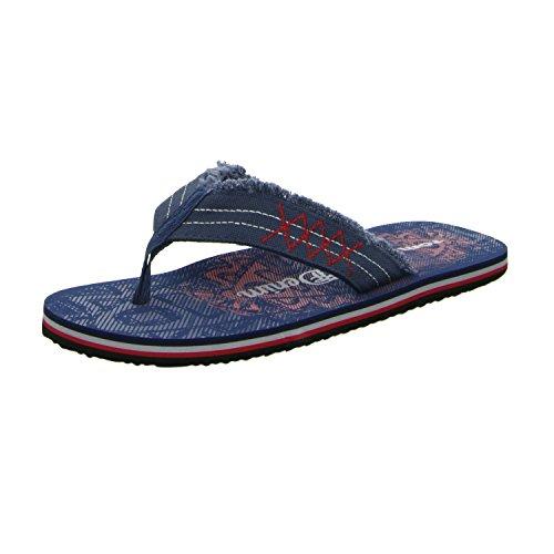 Tom Tailor 9685601 Herren Pantolette sportlicher Boden Blau (Blau)
