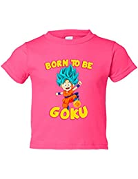 Camiseta niño Dragon Ball Super Born To Be Goku Super Sayan God Dios pelo azul