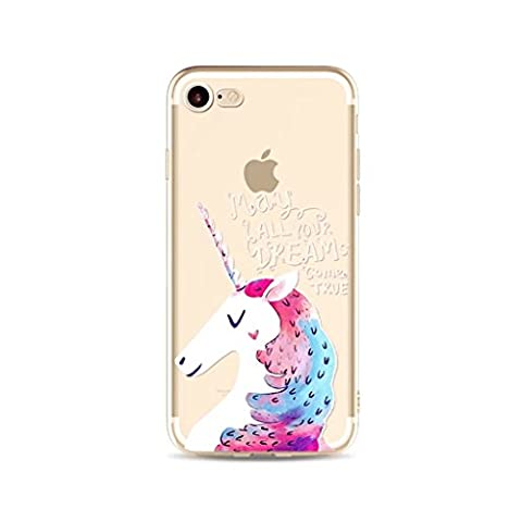 iPhone 6 Plus/6S Plus MUTOUREN case cover?Silicone Case Cover Ultra Slim Scratch Resistant shock absorbing case transparent Crystal Clear Soft Durable cover-unicorn 01