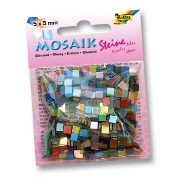 Mosaik Kunstharz Glänzend 5x5mm 45g sortiert [Spielzeug] - Mosaik Kunstharz