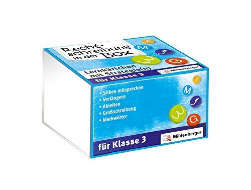 Preisvergleich Produktbild Rechtschreibung in der Box – Lernkärtchen mit Strategie(n), Klasse 3