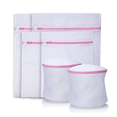 Anfire sacs à linge , Pour sous-vêtements chaussettes tenues bra chemises [ Lot de 6 ] ( 2*Moyen , 2*Grand , 2*soutien-gorge sac lavage )