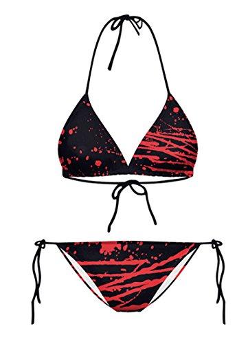 THENICE Damen Bikini-Sets Bloodsoaked