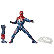 Hasbro Marvel Spider-Man Legends Series 15 cm Collectible Action Figure Velocity Suit Spider-Man Toy, With Build-A-Figure Piece, Accessory