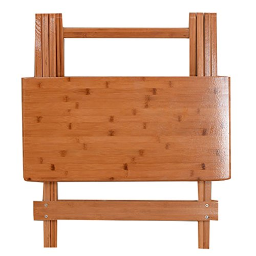 YUN-X Bambusholz quadratische Tabelle einfachen Haushalt Klapptisch tragbare kleine Tabelle (Size : 70 * 70cm) -
