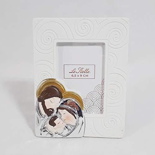 Bomboniera cresima comunione battesimo cornice portafoto con icona sacra famiglia art. 51051 (bomboniera fai da te)