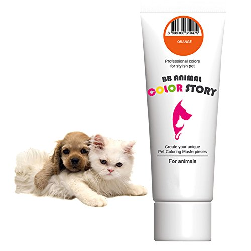Orange 50ml Dog Hair Bleach Dog Hair Dye Professional Colors for Stylish Pet