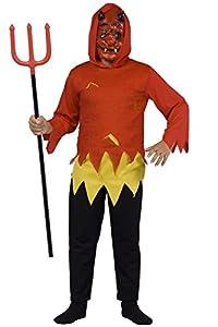 Carnaval - Disfraz de diablesa para hombre, talla 7-10 Anni