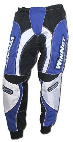 WinNet Pantaloni per moto da cross motocross blu, Taglia: L