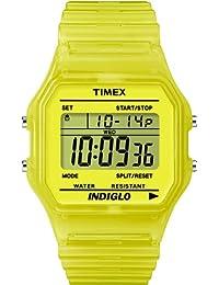 Timex T2N808D7 - Reloj digital de cuarzo unisex con correa de resina, color amarillo