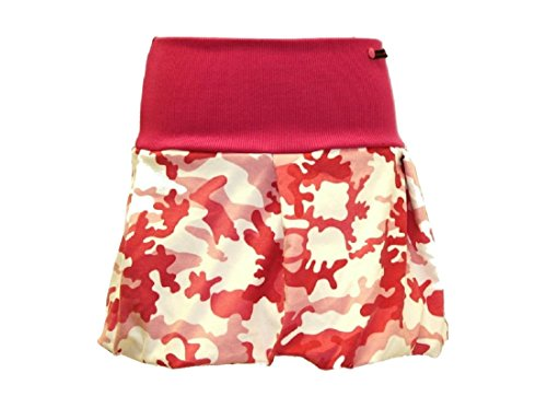 dunkle design Damen Ballonrock Cord Mini in vielen Farben und Mustern zur Wahl Tarn Pink
