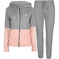 Adidas WTS CO Marker Chándal, Mujer, Gris (Medium Grey Heather/Haze Coral Mel) / Blanco, L