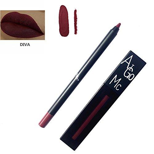 allbesta Matte Rouge à lèvres Lip Liner Set Kit de maquillage Gloss Lip Liner Crayon contour des lèvres Imperméable à l'eau et non Stick Bonnet