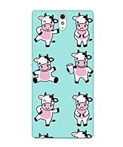Happoz Sony Xperia C5 & C5 Ultra Cases Back Cover Mobile Pouches Shell Hard Plastic Graphic Armour Premium Printed Designer Cartoon Girl 3D Funky Fancy Slim Graffiti Imported Cute Colurful Stylish Boys D006