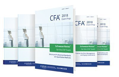 2018 CFA Level 1 Study package (5 books) + (2) practice books + Question Bank CD