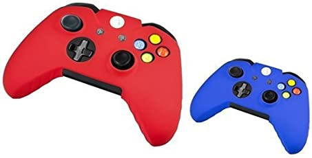 Pythons Xbox One 2 Pack Controller Silionce Case Compatible (Red/Blue)