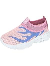 Moneycom - Zapatillas Informales para niños y niñas, diseño de Malla, Antideslizantes, para Exteriores, Suaves, con Cristales Ligeros