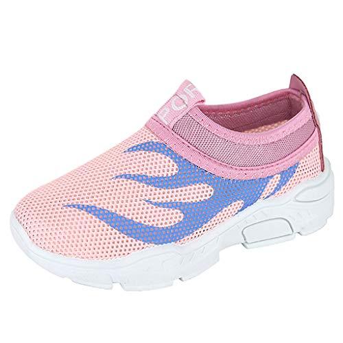 Alwayswin Baby Jungen Mädchen Freizeitschuhe Mesh Sport Sneakers Sommer Atmungsaktiv Slip-On Schuhe Solide Weicher Boden Outdoor-Sportschuhe Bequem Sport Sandalen Mode Einzelne Schuhe