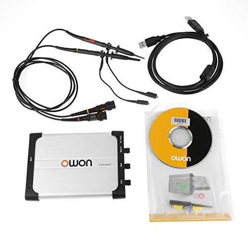 OWON Oszilloskop VDS1022, Virtual Oszilloskop Spektrumanalysator Datenrekorder mit Portable Design mit Dual Channel USB Speicher mit einer Bandbreite von 25Mhz
