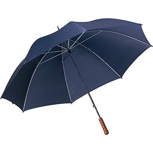 eBuyGB Extra großer Hochzeits-Golf-Regenschirm mit Holzgriff, manuelles Öffnen der Brautjungfern, Brautjungfern Brolly, Unisex, blau, 1 Stück -