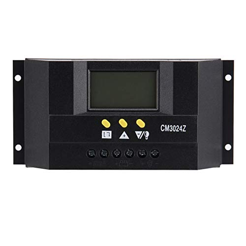 Soulitem Solar-Stromregler, Stromanzeige, 30 A, Aluminiumlegierung, Kühler, LCD-Display, Dual USB Schwarz -