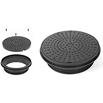 320//350mm Round Manhole Inspection Chamber Cover /& Frame