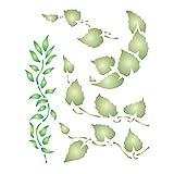 Stencil a forma di foglie, riutilizzabile, stencil da parete a forma di fogliame. m