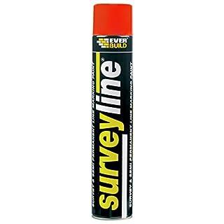 Everbuild SURVEYRE Surveyline Marker Spray 700 ml - Red