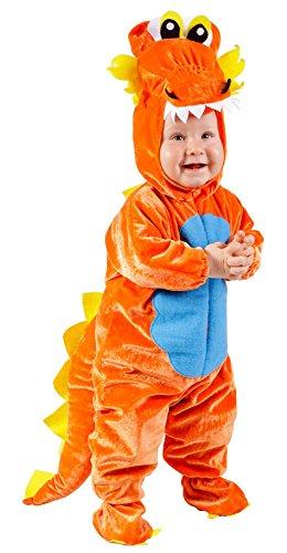Kleiner Feuerdrache für Kleinkinder 18 Monate - Tolles Kostüm für Ritterfeste, Kindergeburtstage und ()