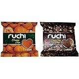 Ruchi Cookies Combo, Choco Chips & Orange Cookies, 400g (Pack of 2)