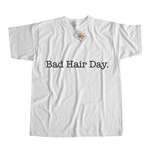 Bad Hair Day Shirt Bad Hair Don't Care Shirt Funny Shirt Weiß