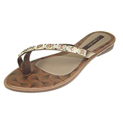 GRENDHA - Chaussures Femmes - JOIA IMPERIAL THONG FE - 81272 - brown gold, Taille:37