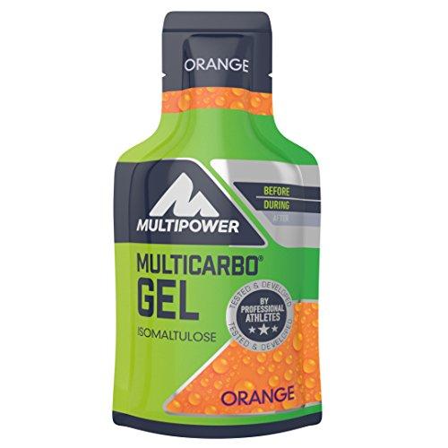 Multipower Endurance Multi Carbo Energy Gel im 24er Pack (24 x 40 ml) – Sportgel für eine schnelle und dauerhafte Energieversorgung – hochwertiger Kohlenhydratmix zur Leistungssteigerung – Orange