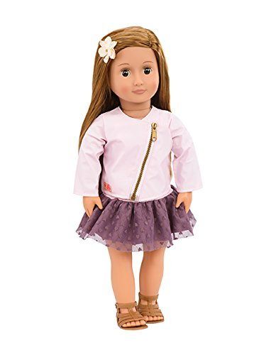 Our Generation BD31101 Doll w/Pink Leather Jacket, Vienna