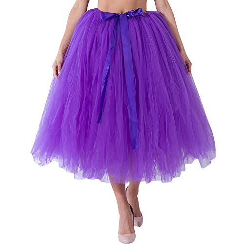 OverDose Damen Carnival Slim Style Frauen Mesh Tüll Tutu Rock Brautjungfer Prinzessin Rock Bubble Mutterschaft Rock Dirndl Masquerade Elegantes ()