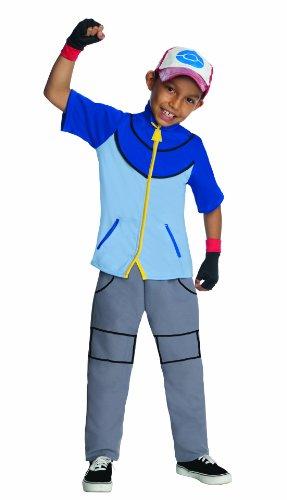 Rubies Kost-me 211429 Pokemon - Ash Ketchum Kind Kost-m - Blau-Grau - ()
