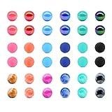 JFORYOU 14G Set da 36 Pezzi Piercing Ricambio Palla in Plastica Piercing per Lingua,capezzoli, Ombelico ECC.