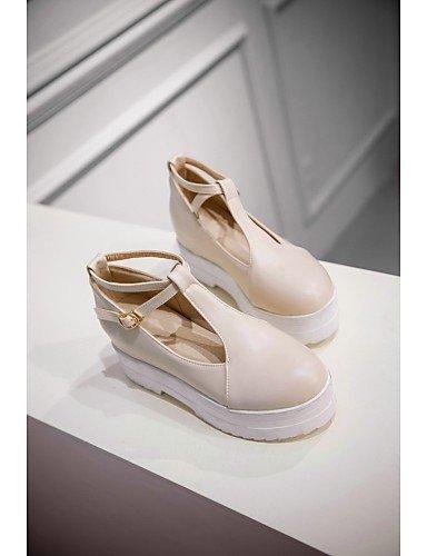 ZQ hug Scarpe Donna-Sneakers alla moda-Ufficio e lavoro / Formale / Casual-Plateau / Punta arrotondata-Piatto-Finta pelle-Blu / Rosa / Beige , pink-us10.5 / eu42 / uk8.5 / cn43 , pink-us10.5 / eu42 /  beige-us10.5 / eu42 / uk8.5 / cn43