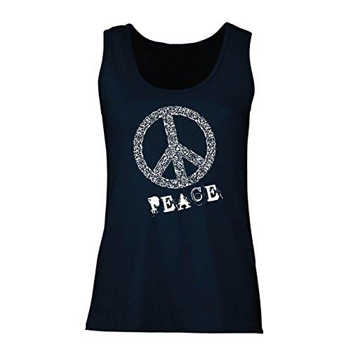 Top FRIEDENSsymbol - 1960er Jahre 1970er Jahre Hippie Hippie, Street-Kleidung, Friedenszeichen, Sommer Festival Hipster Swag (Medium Blau Mehrfarben) (Günstige Kreative Halloween Kostüme)
