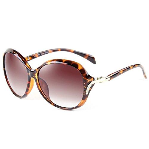 LQABW Damen Sonnenbrille Art Und Weise Eleganter Polarisations-Brille Mit Großem Rahmen,Type1