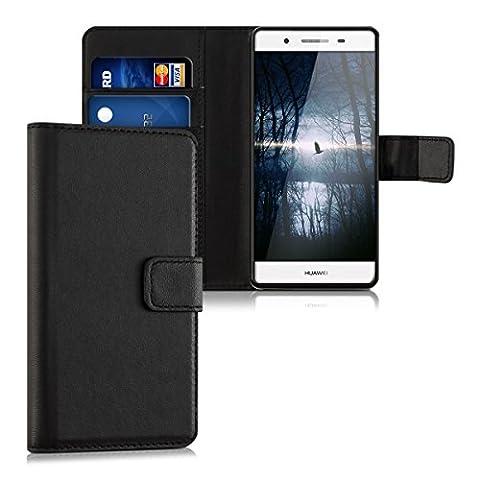 kwmobile Hülle für Huawei GR3 / P8 Lite SMART - Wallet Case Handy Schutzhülle Kunstleder - Handycover Klapphülle mit Kartenfach und Ständer
