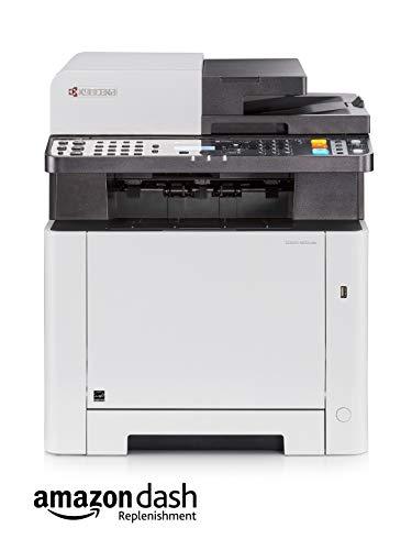 Kyocera Ecosys M5521cdn Farblaser Multifunktionsdrucker. Drucker, Kopierer, Scanner, Faxgerät. Inkl. Mobile-Print-Funktion. Amazon Dash Replenishment-Kompatibel