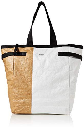 BREE Damen Vary 6, White/black, Tote W19 Weiß, 10x32x42 cm