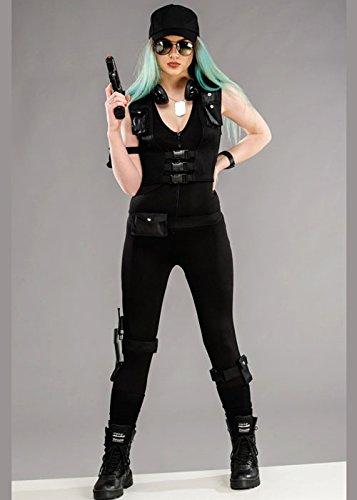 Womens Polizei SWAT Deluxe Kostüm M (UK 10-12) (Kostüm Swat Box)