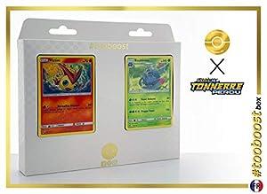Victini 49/214 Y Bouldeneu (Tangrowth) 2/214 - #tooboost X Soleil & Lune 8 Tonnerre Perdu - Box de 10 Cartas Pokémon Francés + 1 Goodie Pokémon