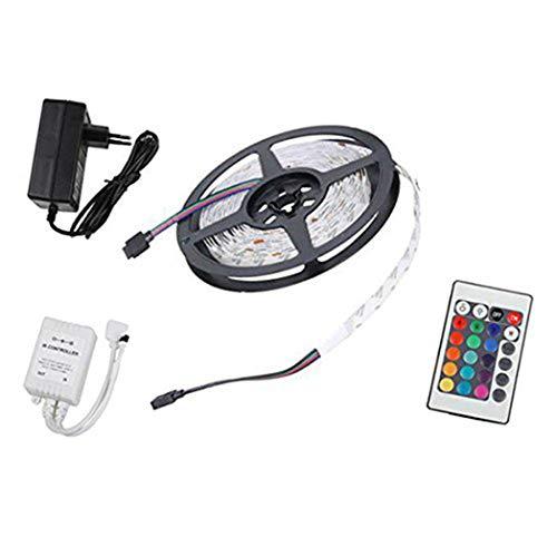 Myriad Choices 3Meter 5050 RGB Licht Leiste Strip Streifen Band, 30- Nicht Wasserdicht + 24-Tasten Fernbedienung