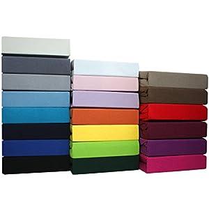 SUMG Farbenfrohes Jersey Spannbettlaken Spannbetttuch Bettlaken aus hautsympathischer 100% Baumwolle (90-100 x 200 cm, Rosa)